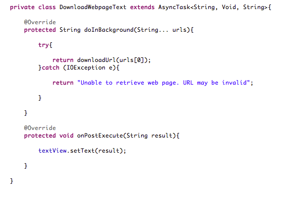 Working Android Code Snippet for Network Operations