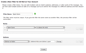 Account Level Spam Filter