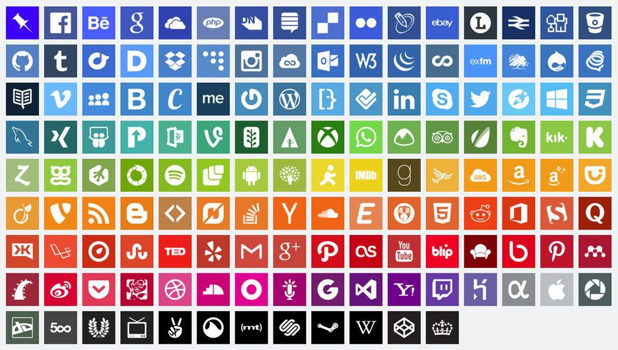 Two Free Flat Design Social Media Icon Sets