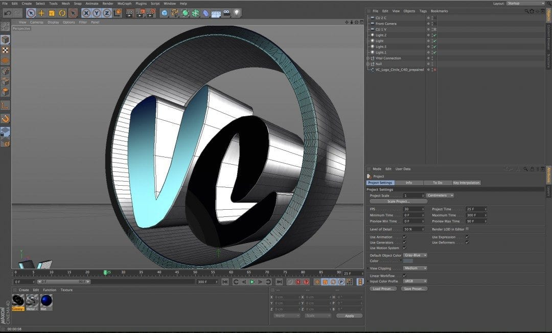 3D Logo Creation, Modeling and Animation