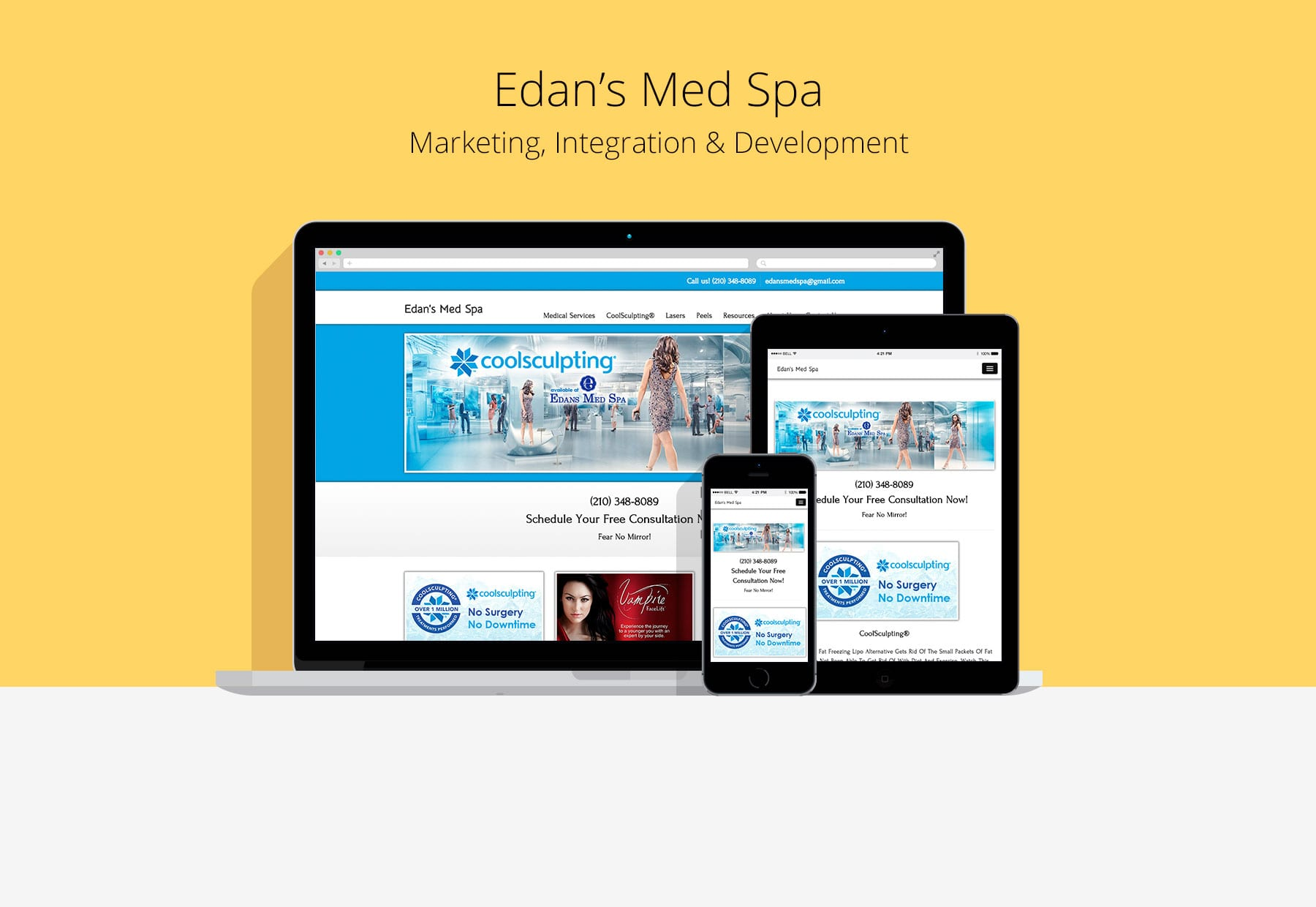 Edan's Med Spa Custom Website Development