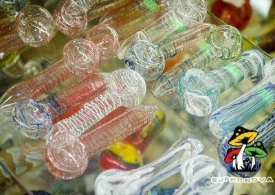 Dope as all hell transparent colored glass hand pipes