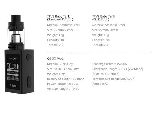 Smok Q-Box Kit Specifications