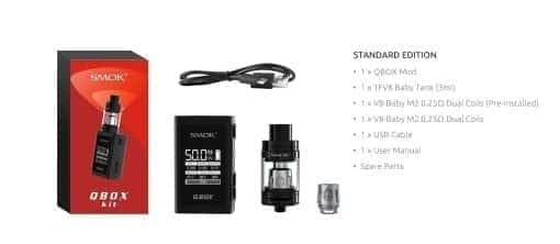 Smok Q-Box Kit and Accessories