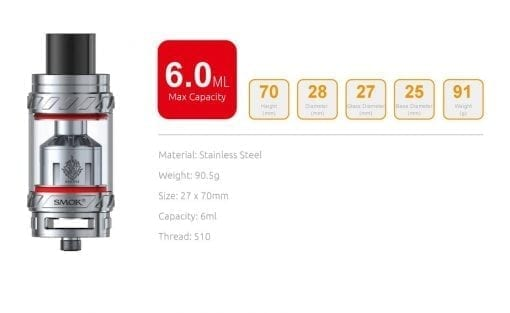 Smok TFV12 Specifications