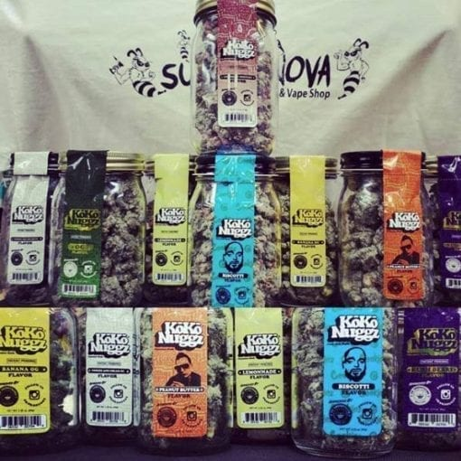 Photo of a variety of Koko Nuggz Flavors