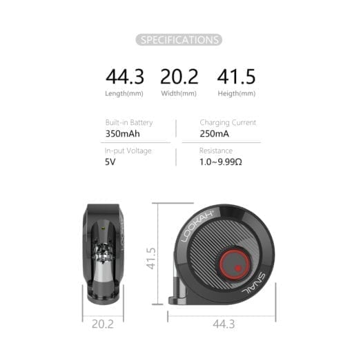 Lookah Snail Specifications